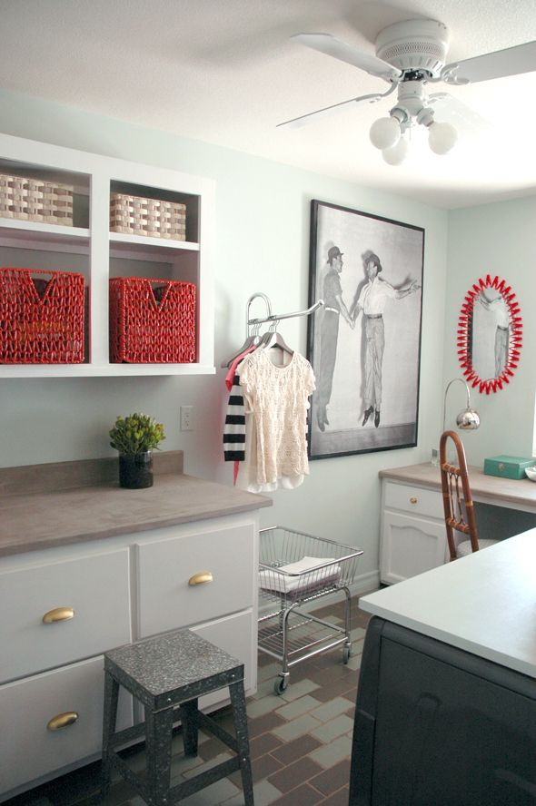 fun laundry room makeover