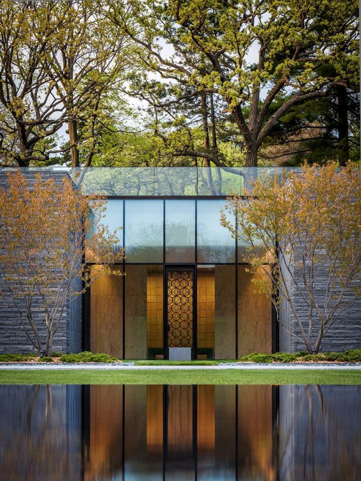 Joan Soranno and John Cook of HGA Architects and Engineers have designed the Garden Mausoleum, located within Lakewood Cemetery in Minneapolis, Minnesota.