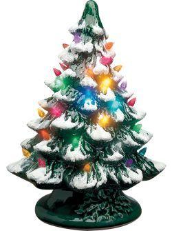 Ceramic Christmas trees - vintage Christmas