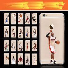 Super Star Basketball Dunk Phone Cases Für iPhone 4 4 S 5 5 S SE 6/6 S 7 7 Plus NBA Jordan TPU Transparent Shell Rückseite C700T(China (Mainland))