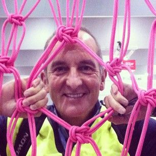 Wow! Kevin McCloud takes a peek through my giant macrame wall at 'Grand Designs Live' 2014 Melbourne and Sydney