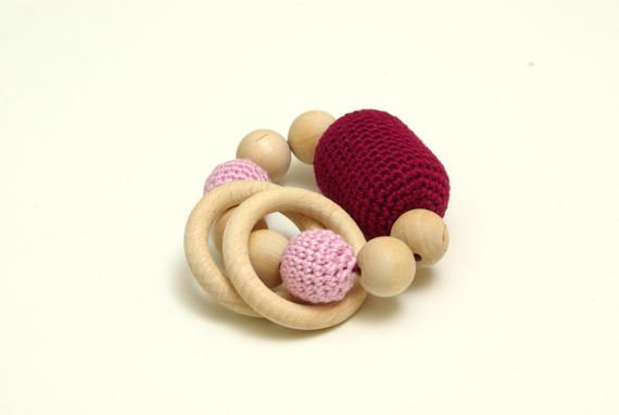 Woodeen teether  teething ring  crochet wooden beads baby, #Woodeenteether, #teethingring, #crochetwoodenbeads, #babygifttoy