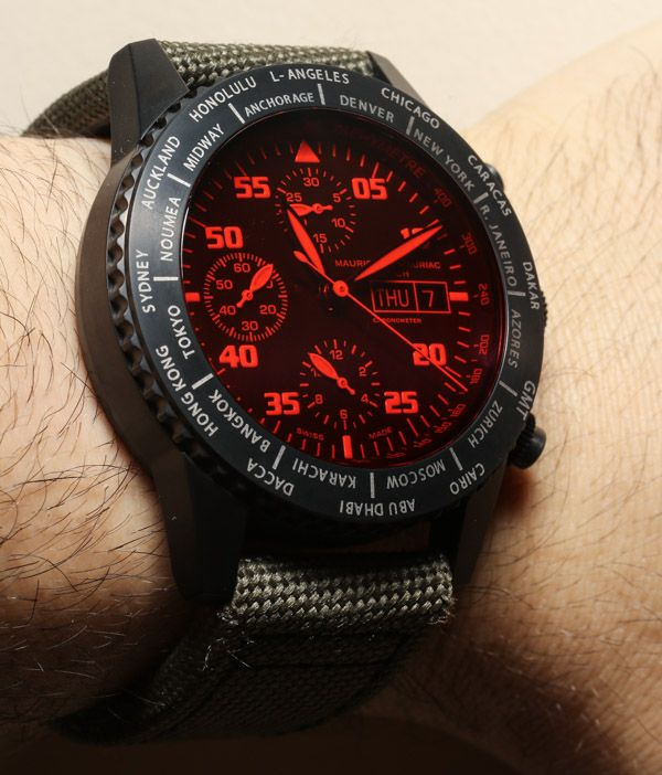 Maurice de Mauriac Chronograph Modern Travel Timer Watch Review maurice de mauriac