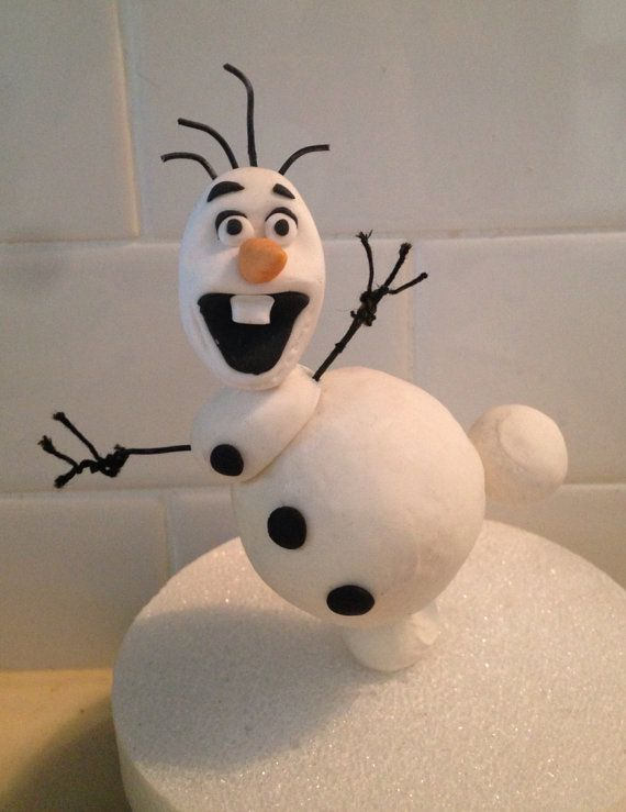 Frozen olaf cake topper by LuliSweetShop on Etsy, $14.00