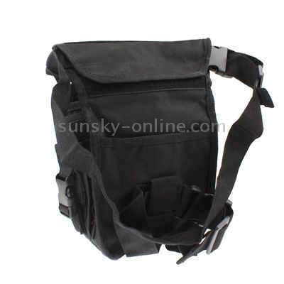[$5.34] Military Army Tactical Multi-Layered Nylon Leg & Waist Pouch Carrier Bag with 2 Magazine Pouches for Outdoor Activity(Black)