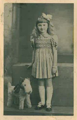 Julienne Schoenbuch age 8 from Paris, France was sadly murdered in Auschwitz 1942.