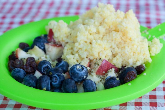 Healthy Travel 104: Camping and Eating Well | Healthful Pursuit Millet, rice, and quinoa can be used in place of oats for a lighter variation of porridge. Cook on the camping stove or on the fire when you need them. Any leftover grains can be used for lunch, or added to yogurt the next morning.