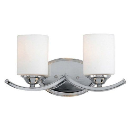 Quoizel Ellis EI8602C Bath Fixture - 15.5W in. - Polished Chrome by Quoizel. $159.99. Match your Jack and Jill bathroom sink with the double lights of the Quoizel Ellis EI8602C Bath Fixture - 15.5W in. - Polished Chrome. Two steel scallops support two white, cylindrical glass shades, each with a 100-watt medium base bulb inside. It's finished in polished chrome for a clean sheen. The body is constructed of steel for durability.About Quoizel Lighting Located in Cha...