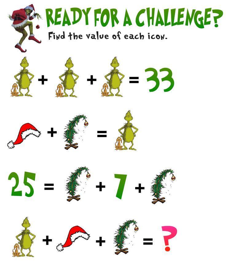 Simultaneous Equations Christmas Math Activities Christmas Math Holiday Math