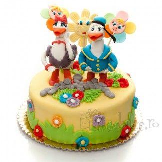 Donald si Daisy Duck din martipan