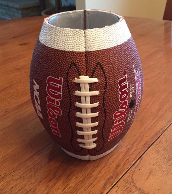 Adorable football vase perfect for any coach or sports celebration. Authentic…