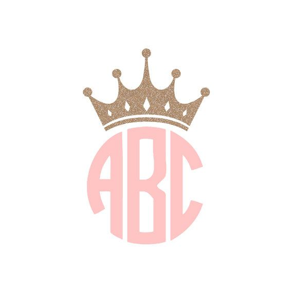 Crown Monogram Decal / Tiara Initials Sticker / Vinyl Queen Monogram Decal
