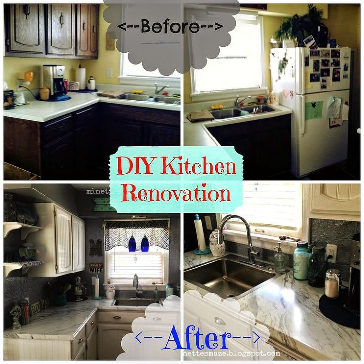 361 best images about kitchen redo ideas on pinterest diy countertops how to paint and - Diy redo kitchen countertops ...