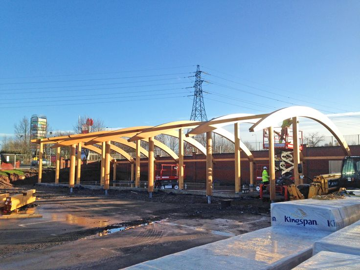 Frame complete for Net Zero Energy retail building for Costa Coffee!