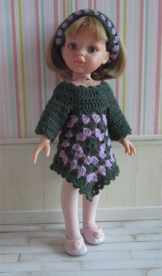 """112- FICHE PATRON CROCHET Tenue """"Suzanne"""" pour poupée Paola Reina ou Les Chéries de Corolle : Jeux, jouets par atelier-crochet"""