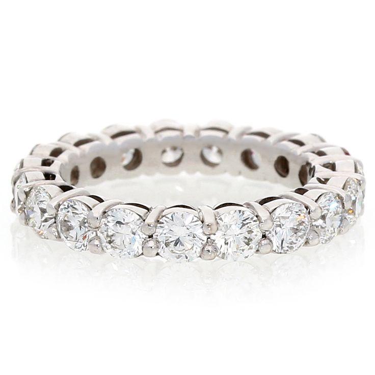 18K White Gold Diamond Full Eternity Ring For Sale by Uwe Koetter.    www.uwekoetter.com