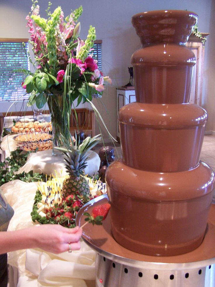 Of course there will be a chocolate fountain at my wedding. We own like three haha