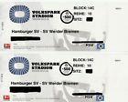 #Ticket  2 Tickets Gästeblock 14C Hamburger SV HSV  Werder Bremen Gäste Sitzplätze #deutschland