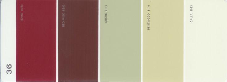 Sold Out Martha Stewart Paint 5 Color Palette Card 36
