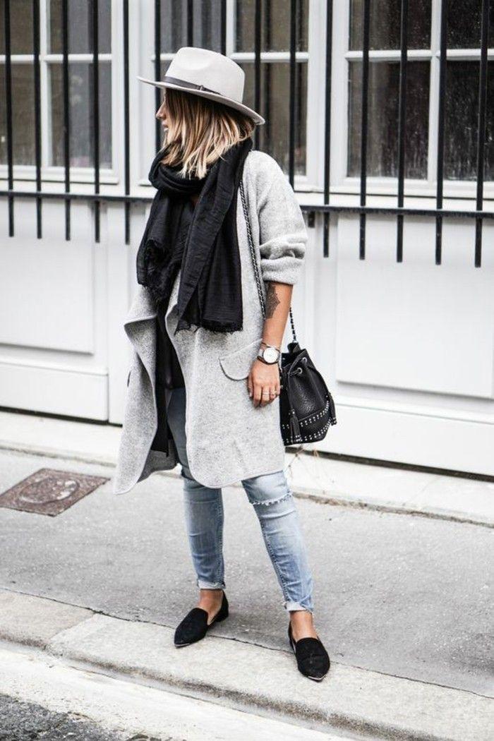 Womit lässt sich ein grauer Mantel kombinieren?