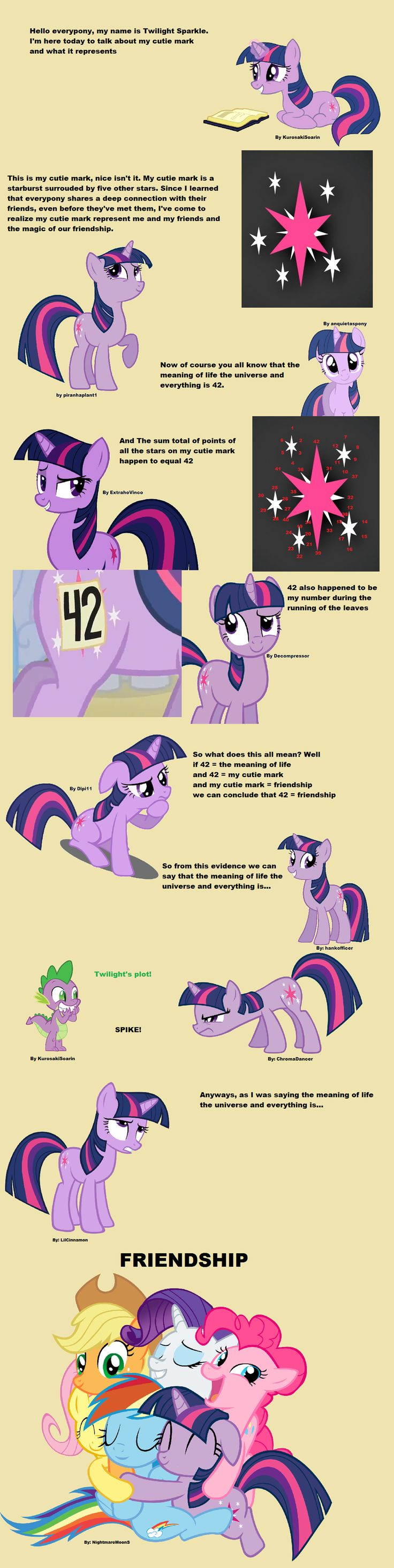 The answer to the meaning of life is by Twilight Sparkle from MLP