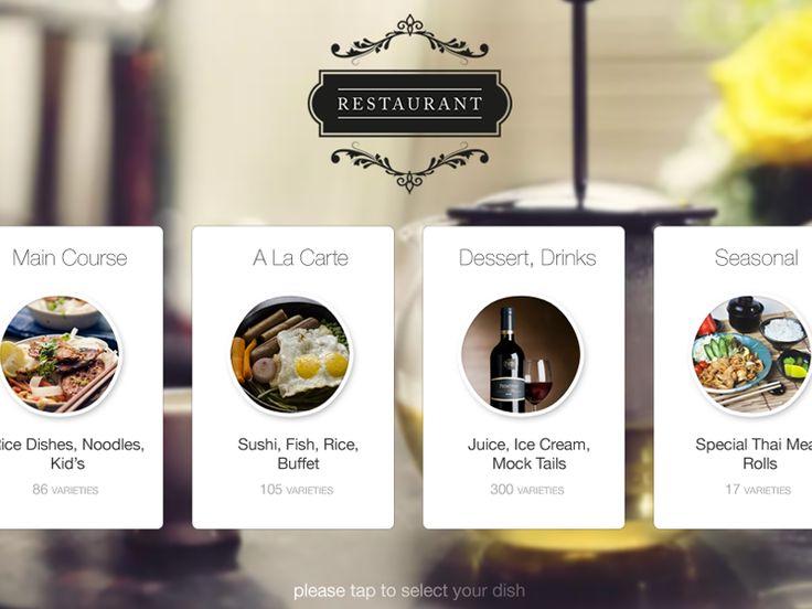 Restaurant Kiosk - Landing Screen