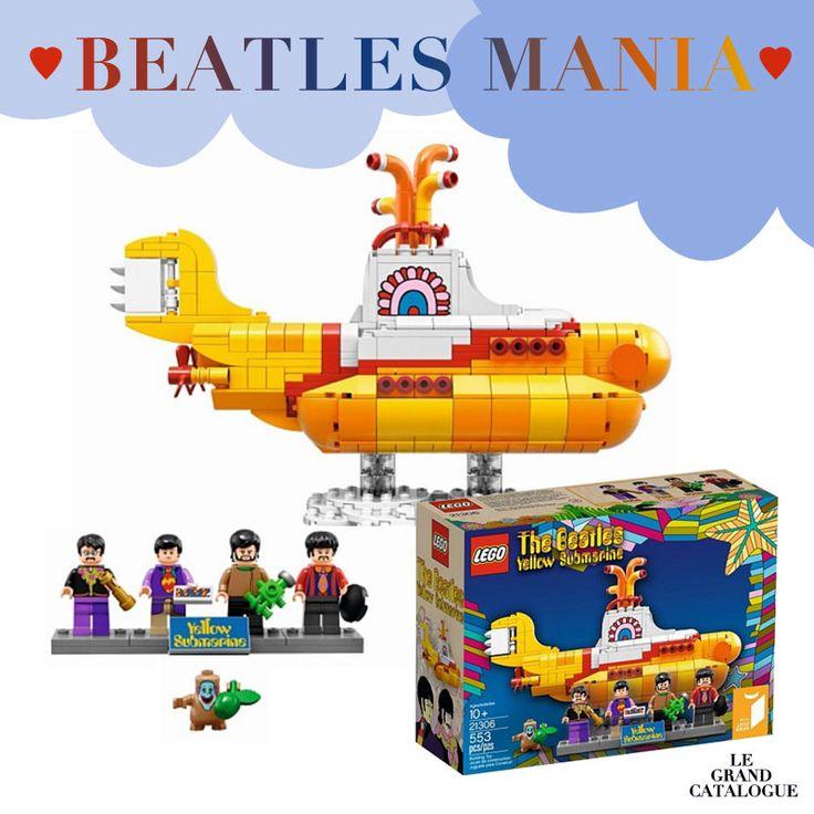 Édition limitée Lego, Yellow submarine, The Beatles à retrouver sur LE GRAND CATALOGUE. Un cadeau pour petits et grands