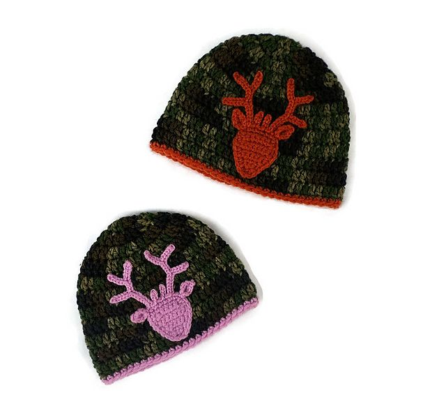 Ravelry: Deer Head Applique pattern by Katrina Payne