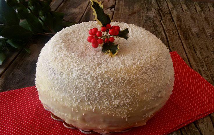 Zuccotto brioche bianco natale, dolce natalizio