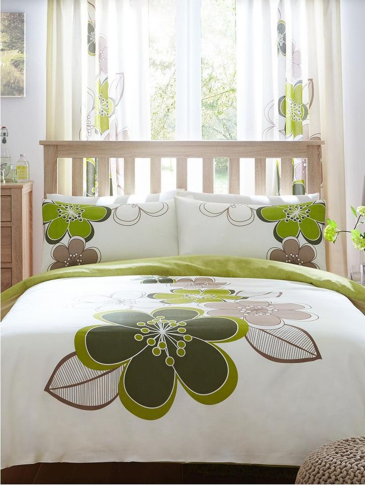 Candice Duvet Cover Set - Green | very.co.uk