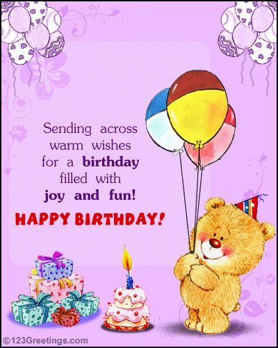 Doc550350 123 E Greetings Birthday Card HAPPY BIRTHDAY YOU – Electronic Birthday Card