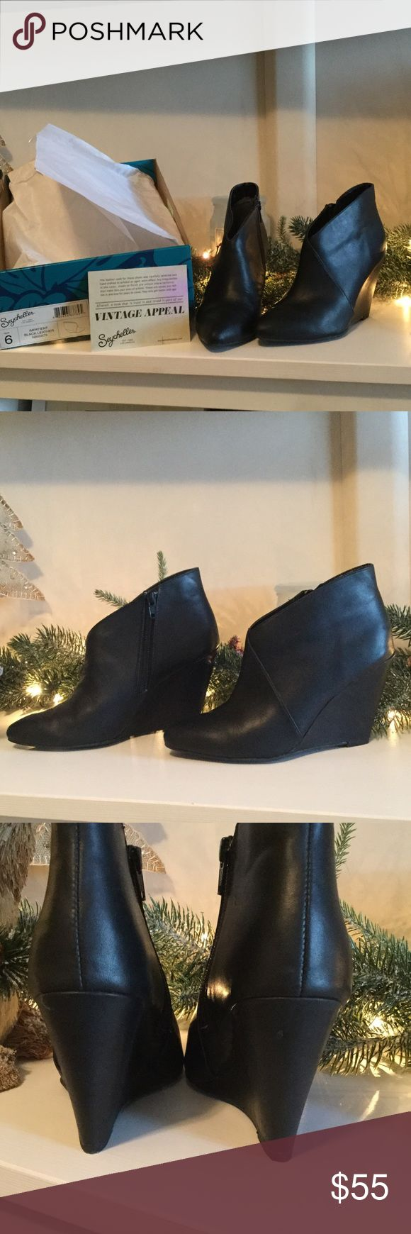 Booties Polish off your look with these sleek and sophisticated impatient booties.  They are perfect with, jeans, leggings, skirts, shorts, and dresses.  The perfect go to bootie!  Booties are in excellent condition, only worn a few times, original packaging included! Seychelles Shoes Ankle Boots & Booties