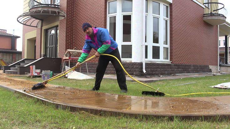 Как быстро заполнить швы тротуарной плитки ?Снежный человек