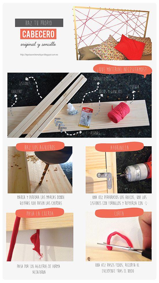 LePoissonChromatique: DIY: Haz tu propio cabecero