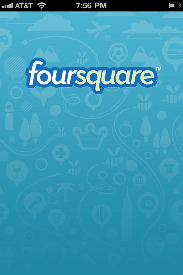 launch screen on Foursquare
