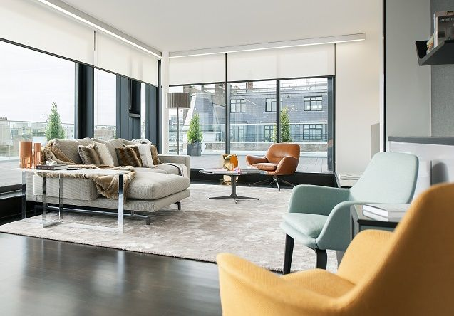 Minimalist Blinds for Fitzrovia Penthouse - Grand Design Blinds