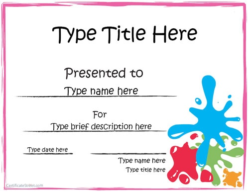122 best Certificates images on Pinterest Printable certificates - first place award template