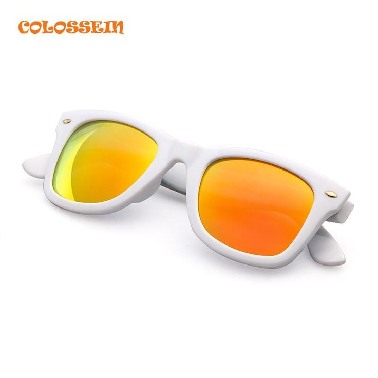 COLOSSEIN BLUE LABEL Simple Style Sunglasses Women Square White Frame Glasses New Arrival Adult Fashion Classic Eyewear Hot Sale