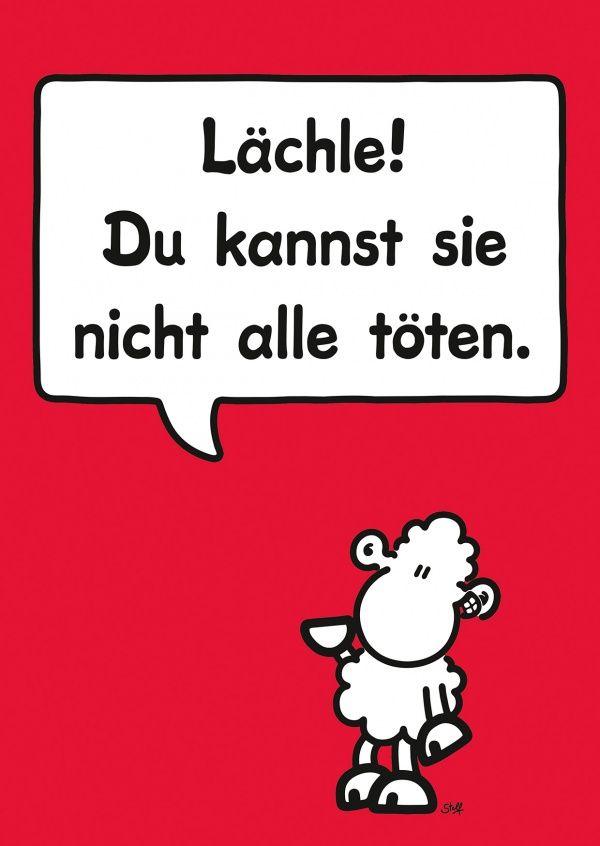 Lächle | sheepworld | Echte Postkarten online versenden | sheepworld