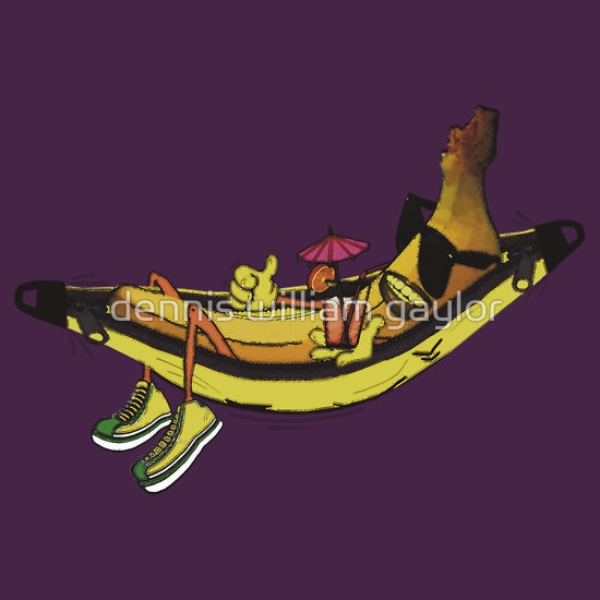 banana hammock -  T-Shirts & Hoodies by dennis william gaylor, custom illustrated posters, prints, tees. Unique bespoke designs by dennis william gaylor .:: watersoluble ::.