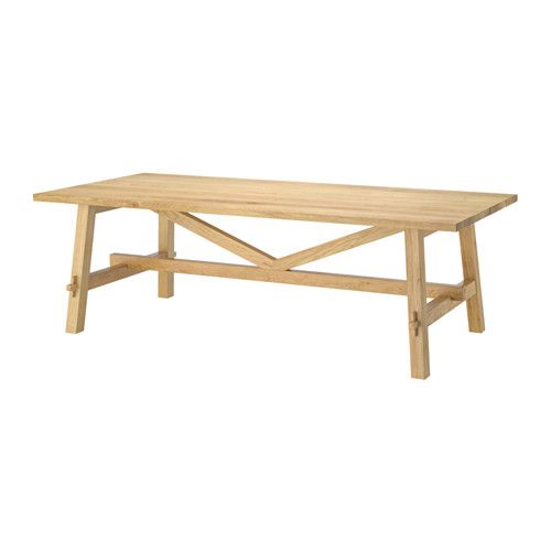 MÖCKELBY Table IKEA Table with a top layer of solid wood, a durable natural material that can be sanded and surface treated when required.