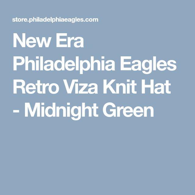 New Era Philadelphia Eagles Retro Viza Knit Hat - Midnight Green
