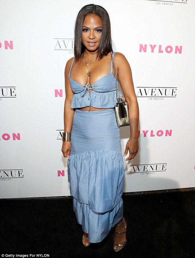 Party time:The week has only just begun, but Christina Milian was clearly in no mood for ...