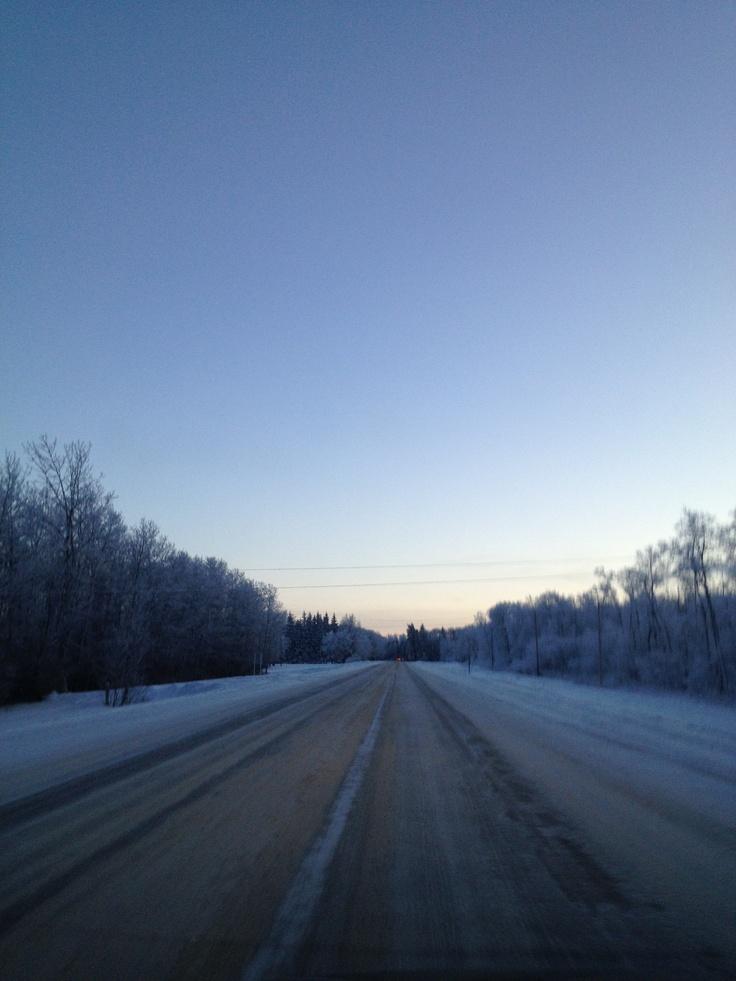 Winter highway #GILOVEMANITOBA