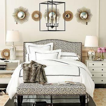 Bedroom with Mismatched Nightstands