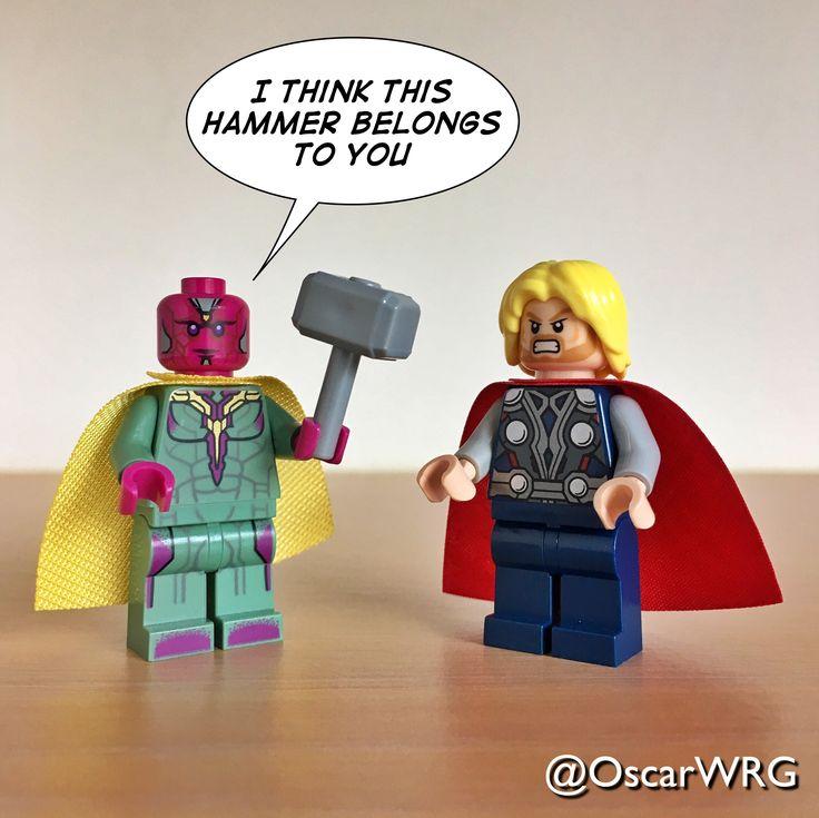 #LEGO #Vision #Mjölnir #Mjolnir #Thor #Hammer #Marvel # ...