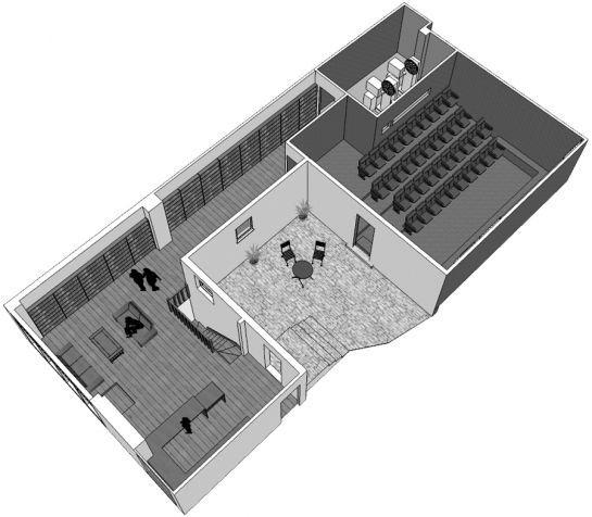 close up film centre London - floor plan