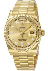 Rolex Day-Date Automatic Champagne Dial 18kt Yellow Gold Mens Watch 118238CDP