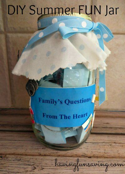 Make Your Own Summer Fun Jar   Having Fun Saving & Cooking.