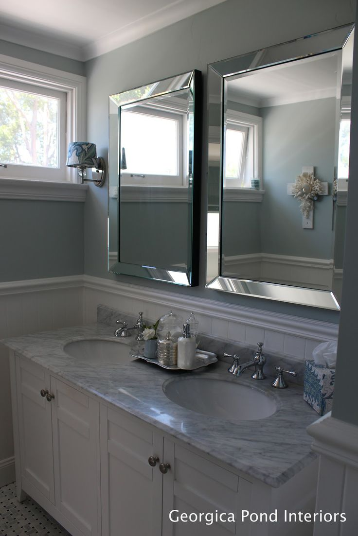 These are mirrors but i love the idea of two medicine - Bathroom mirrors and medicine cabinets ...